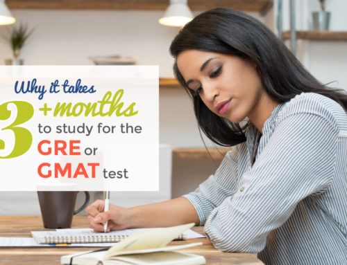 Why it takes 3+ months to study for the GRE or GMAT test